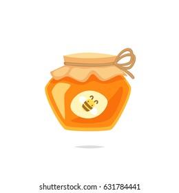 Jar of honey vector illustration