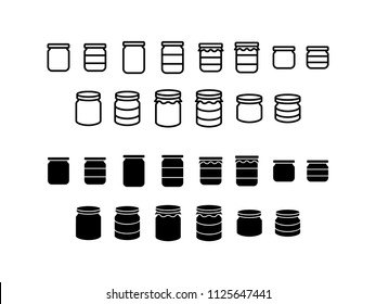 Jar Icon Design Vector Symbol Set