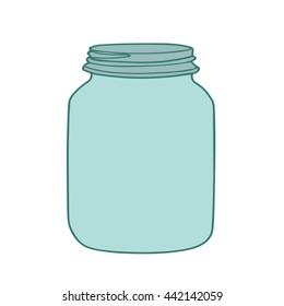 jar vector. glass jar vector