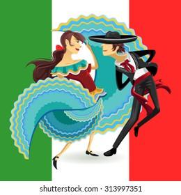 Ilustraciones, imágenes y vectores de stock sobre Danza Folklórica ...