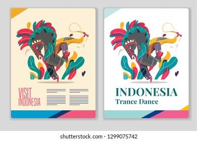 Jaranan Javanese trance dance Indonesia. Vector illustration