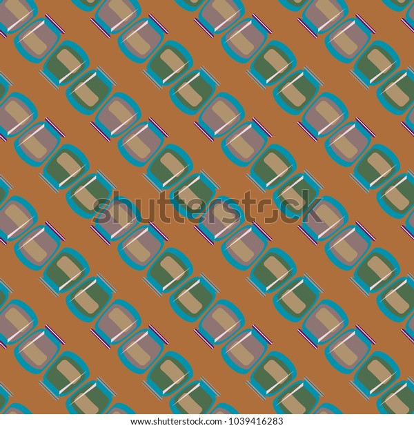 Jars with rustic home canning new seamless pattern for background.