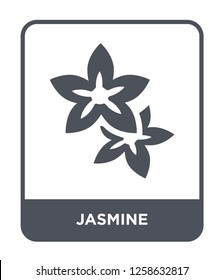 jasmine icon vector on white background, jasmine trendy filled icons from Nature collection, jasmine simple element illustration, jasmine simple element illustration