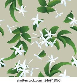 Jasmine seamless background
