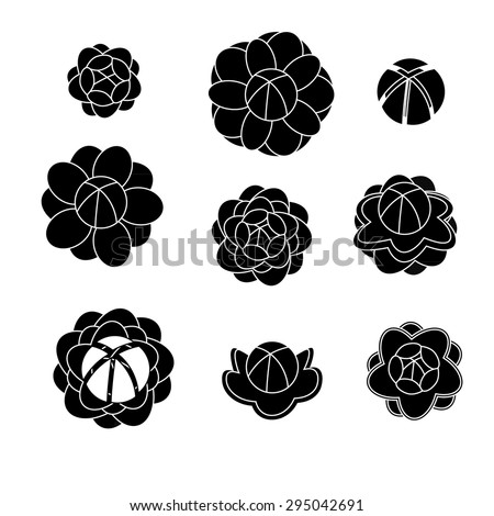 jasmine silhouettes vector shaps stock vector royalty free