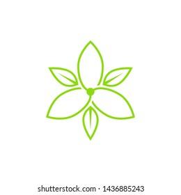 Jasmine vector logo design concept