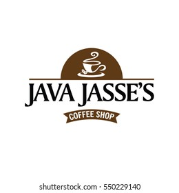 Java Coffee Shop Logo Sign Symbol Icon
