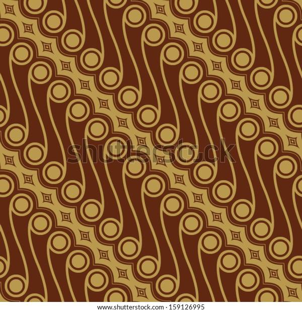 Javanese Batik Seamless Pattern Set C2 Stock Vector