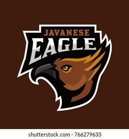 Javanese Eagle sports logo, eagle head vector