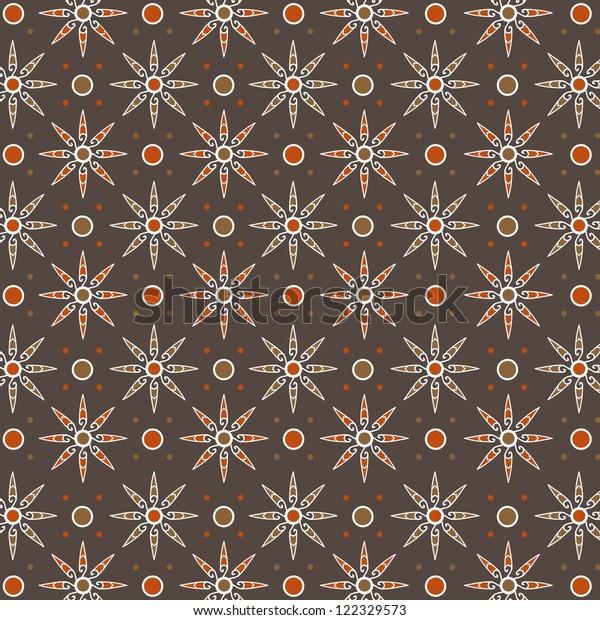Javanese Traditional Pattern Batik 7 Stock Vector (Royalty