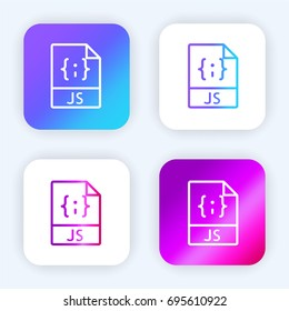 Javascript bright purple and blue gradient app icon