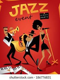 Jazz band, music event (vector Art)