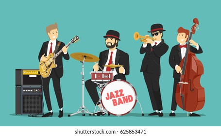 Jazz band. Vector illustration.