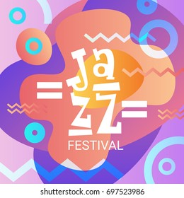 Jazz Festival Live Music Concert Poster Advertisement Banner Vector Illustration