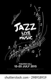 jazz festival - live music. poster