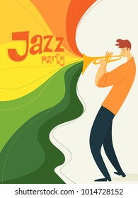 Jazz festival poster with musician