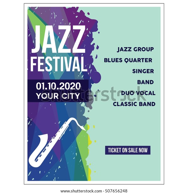 Jazz Festival Poster Templates Stock Vector (Royalty Free