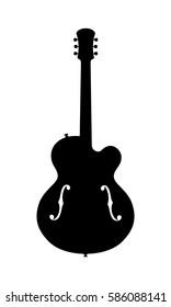 Jazz Guitar Silhouette
