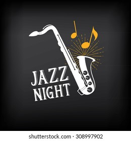 Jazz music party logo and badge design.