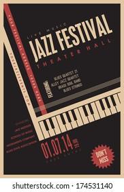 Jazz music, poster background template. 20 deg. rotation.