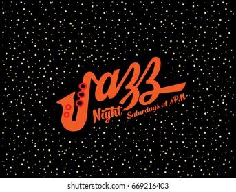 Jazz  Night Music CLub Poster