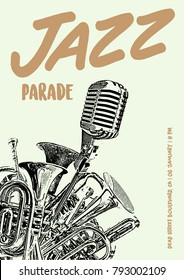 Jazz Parade Flyer Poster Art Template