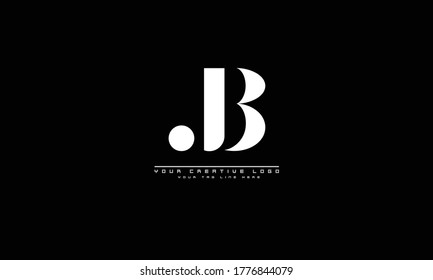 JB abstract vector logo monogram template