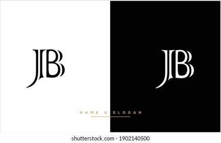 JB ,BJ Abstract Letters Logo Monogram
