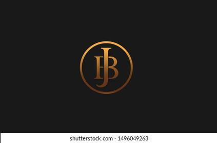 JB, BJ letter Logo Design Template Vector