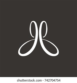 JB or db or bb logo initial letter design template vector