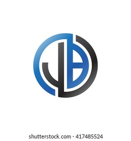 JB initial letters looping linked circle logo black blue