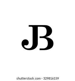 JB initial monogram logo