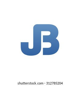 JB letter icon logo connected