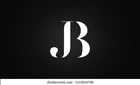 JB Letter Logo Design Template Vector