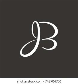 JB logo initial letter design template vector