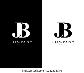 jb/bj initial company name logo template vector