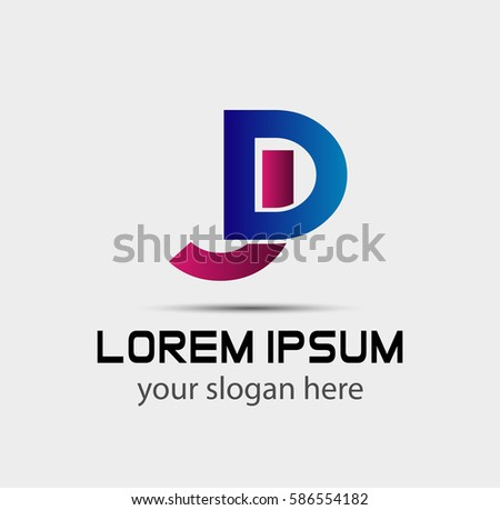 Jd Company Linked Letter Logo Stock Vector Royalty Free 586554182