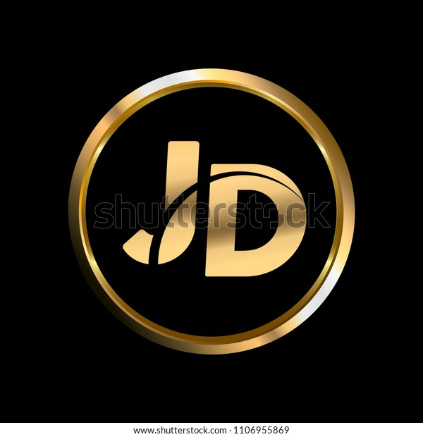 jd initial circle company logo gold stock vector royalty free 1106955869 https www shutterstock com image vector jd initial circle company logo gold 1106955869