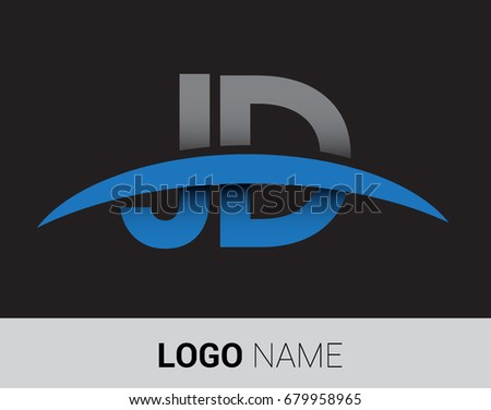 Jd Initial Logo Company Name Colored Stock Vector Royalty Free