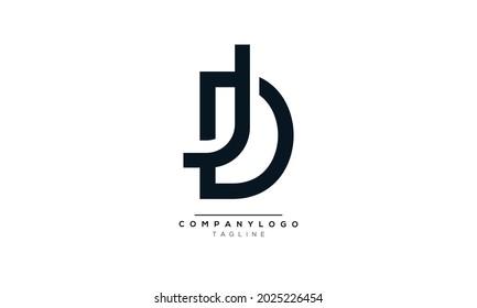 JD initials monogram letter text alphabet logo design