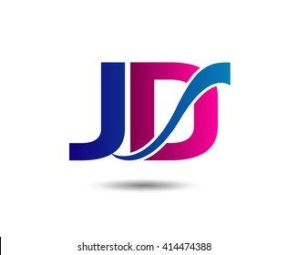 JD letter icon logo connected