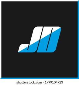 JD letter logo design on black background. JD creative initials letter logo concept. jd icon design. JD white and blue letter icon design on black background. J D