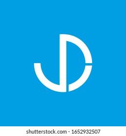 JD letter logo, jd letter logo icon.