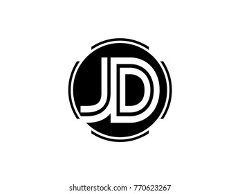 jd logo design images stock photos vectors shutterstock https www shutterstock com image vector jd letter logo round black 770623267