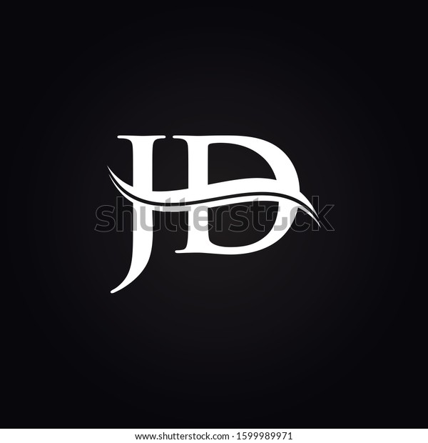 jd letter type logo design vector stock vector royalty free 1599989971 https www shutterstock com image vector jd letter type logo design vector 1599989971
