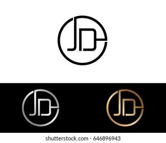 letter jd logo images stock photos vectors shutterstock https www shutterstock com image vector jd logo letter design vector red 646896943