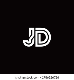 jd logo images stock photos vectors shutterstock https www shutterstock com image vector jd monogram logo abstract line design 1786526726