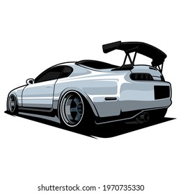 JDM car vector, perfect for custom car lovers and for printing