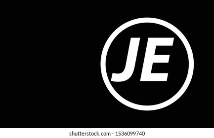 JE abstract vector logo monogram template