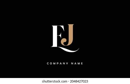 JE, EJ Alphabets Letters Logo Monogram